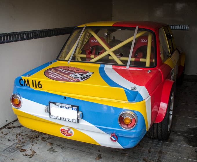 "A BMW ""round tail"" 2002 race-prepped car awaits its next challenge"
