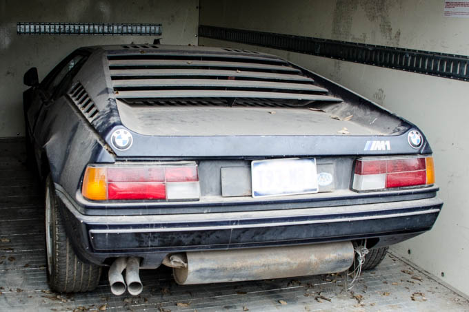 A very rare and valuable BMW M1 mid-engine car has been in Terry's collection for 20 years.. awaiting restoration
