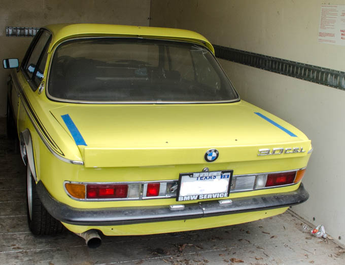 Terry's highly sought after 3.0 CSL lightweight coupe is seen frequently at vintage BMW outings.