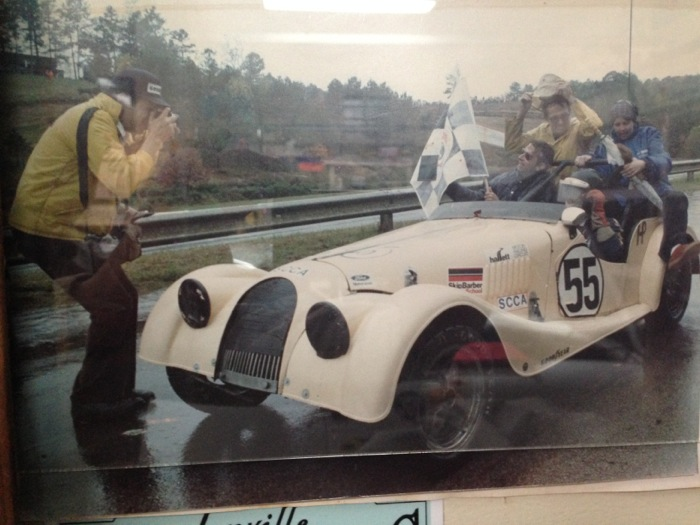 Toly brings home the chequered flag at the 1981 Runoffs