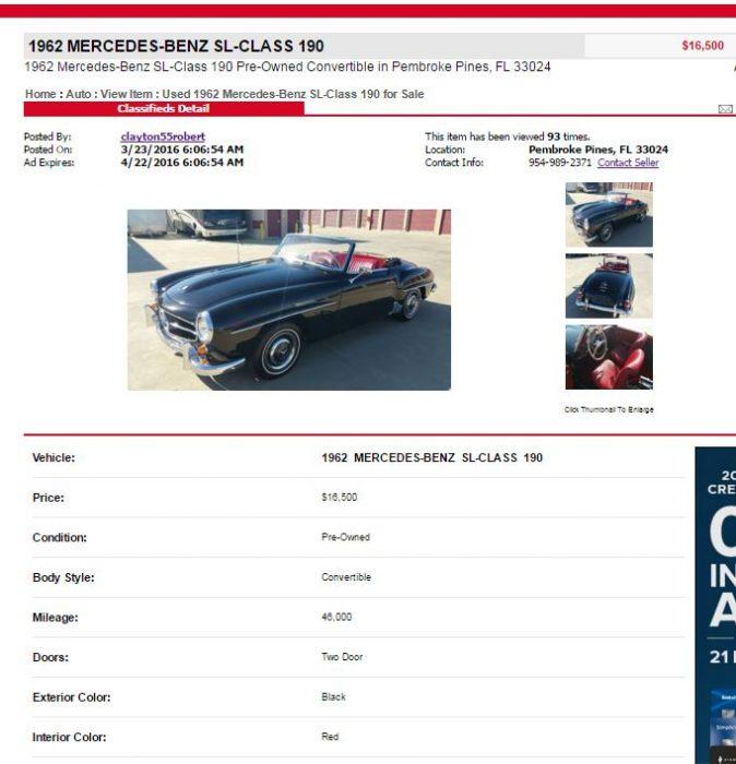 original listing